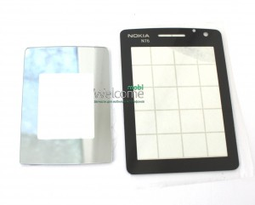 Стекло корпуса Nokia N76 black 2шт