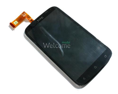Сенсор HTC T328e Desire X black (с дисплеем) high copy