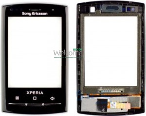 Сенсор Sony Ericsson X10 mini with frame black orig