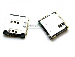 Коннектор sim and MMC card inside Samsung S5230,C3010,S3650 orig