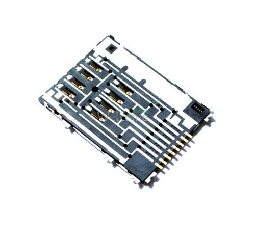 Коннектор sim Samsung S5250,S5750,P5100 Galaxy Tab2,P6800 Galaxy Tab,P7500 orig
