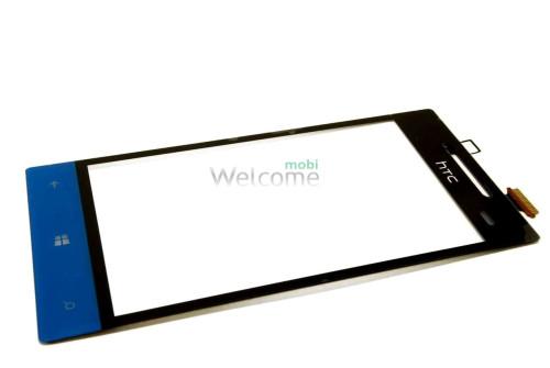 Сенсор HTC A620e Windows Phone 8S Domino голубой orig