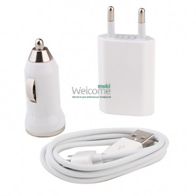 СЗУ+АЗУ+кабель (1000 mAh) iPhone 3G,3Gs,4G,4GS