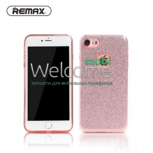 Чехол Remax Glitter iPhone 7 силикон pink