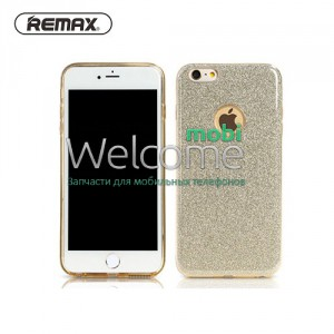 Чехол Remax Glitter iPhone 7 силикон gold