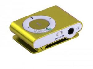 MP3 плеер металл gold