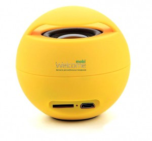 Колонка,mini speaker 165 bluetooth yellow