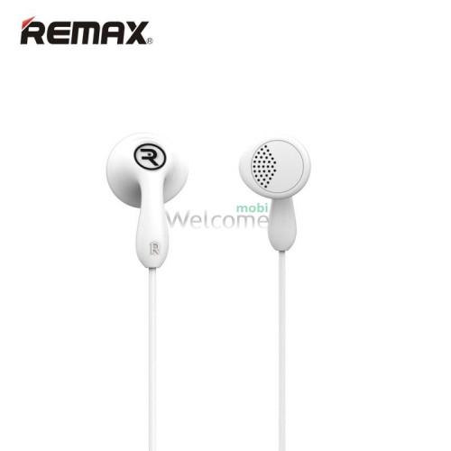 Наушники Remax 301 Candy гарнитура white