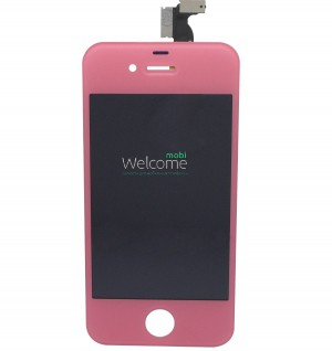 iPhone4G LCD with touch and frame pink orig (TEST)
