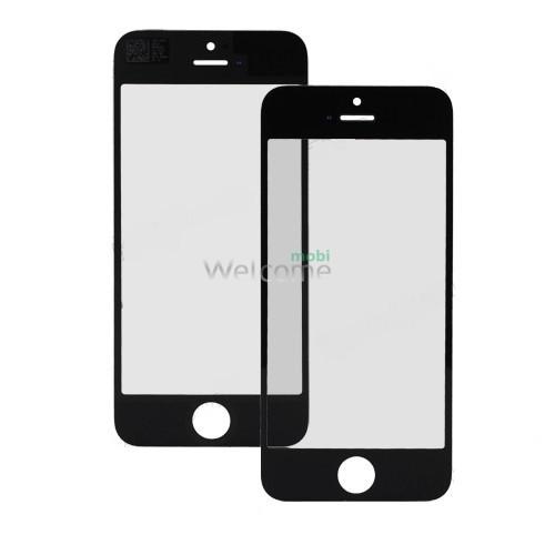 Стекло iPhone 5,5S (0.3 мм, 2.5D, черное, полное,с олеофобным покрытием) комплект 2шт
