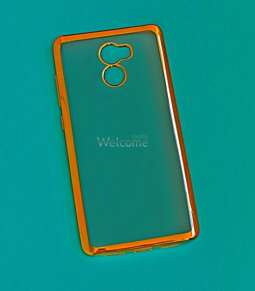 Чехол Shining for Xiaomi Redmi 4 силикон gold