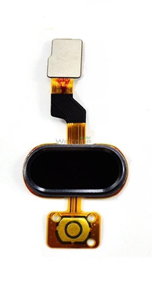 Шлейф Meizu M3S home flex cable black orig