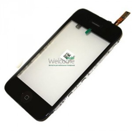 iPhone3G touchscreen black with frame+home+speaker+sensor flex (TEST)