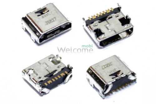 Коннектор зарядки Samsung i9082,G360F,G360H,G361F,G361H,I8550,I8552,I9080,T110,T111 orig (5 шт.)