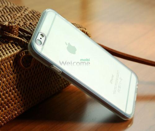 Чехол Remax Pudding Case iPhone6+ силикон прозрачный белый 0,2mm
