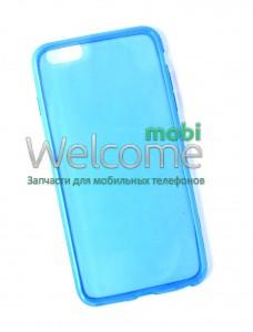 Чехол Remax Ultrathin iPhone 6 Plus силикон прозрачный blue 0,2mm