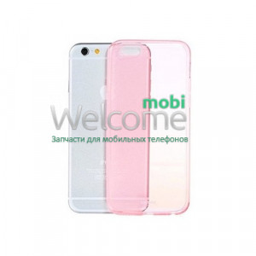 Чехол Remax Clear Series iPhone 6+ пластик прозрачный розовый 0,5mm