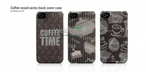 Чехол HOCO HI-P004 ML Coffee Series back cover for iPhone 4