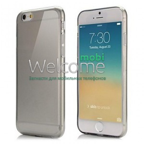 Чехол Remax Pudding Case iPhone6+ силикон прозрачный черный 0,2mm
