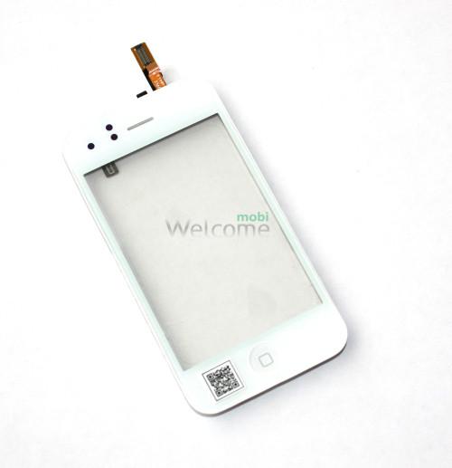 iPhone3G touchscreen white with frame+home+speaker+sensor flex