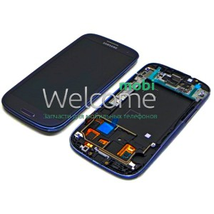 Дисплей Samsung i9300,I9305,I747,R530 with touchscreen black Galaxy S3 orig
