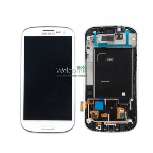 Дисплей Samsung i9300,I9305,I747,R530 with touch screen white Galaxy S3 with frame orig