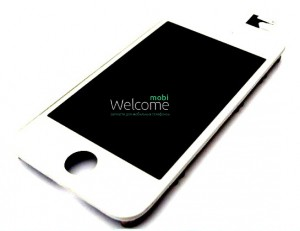 iPhone4S LCD with touch white with frame full orig (TEST)