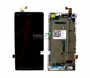 Дисплей Huawei Ascend G6 Dual Sim 3G with touchscreen + frame black orig