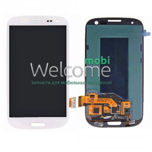 Дисплей Samsung i9300,I9305,I747,R530 with touch screen white Galaxy S3 orig (rev 7.0)