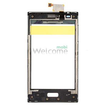Сенсор LG E610,E612 Optimus L5 black with frame orig