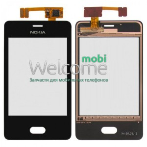 Сенсор Nokia 501 Asha black orig