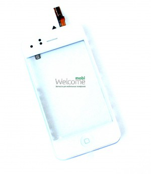 iPhone3GS touchscreen white with frame+home+spealer+sensor flex (TEST)