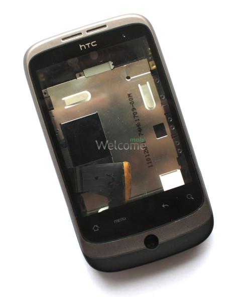 Корпус HTC A3333 Wildfire, black orig предняя+задняя панель