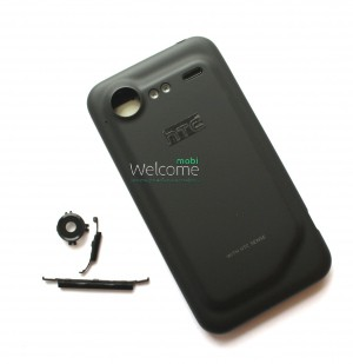Корпус HTC G11, S710e Incredible S, black orig предняя+задняя панель+средняя часть