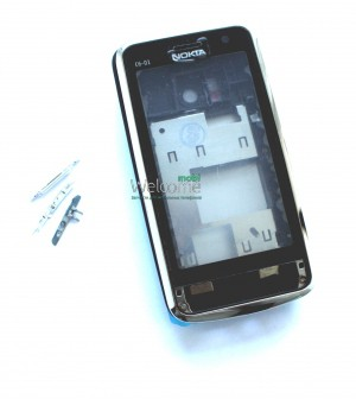 Корпус Nokia C6-01 silver high copy полный комплект