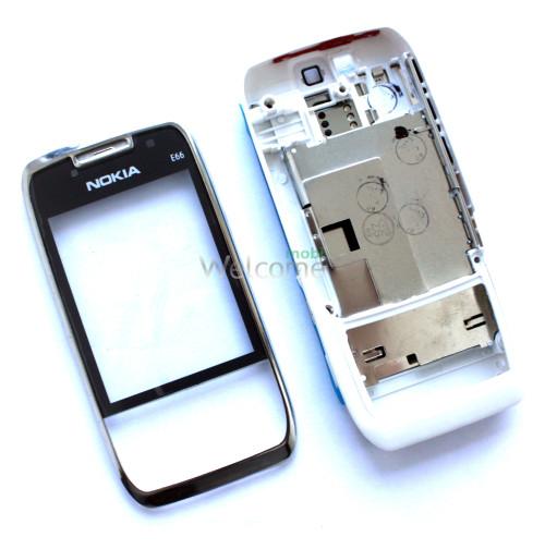 Корпус Nokia E66 white high copy полный комплект+кнопки