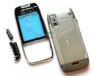 Корпус Nokia E75 silver high copy полный комплект