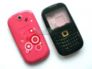 Корпус Samsung B3210 pink high copy полный комплект