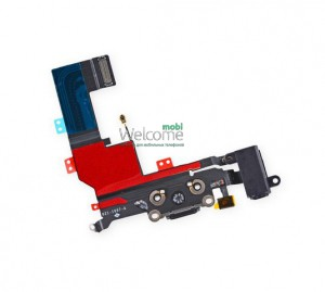 iPhone5S charge connector with audio flex black orig