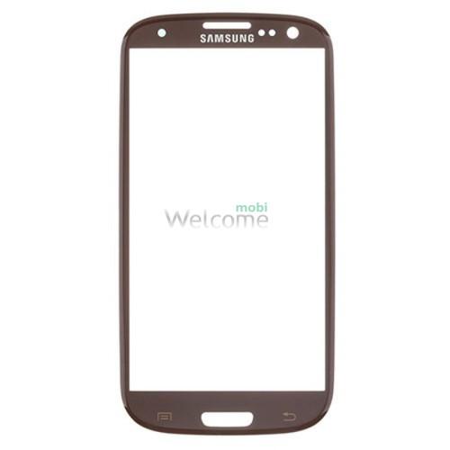 Стекло Samsung I9300 Galaxy S3 brown high copy
