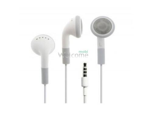 Наушники iPhone 4,4s,3g,3gs 3,5 high copy white (пульт+микрофон)