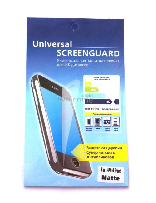 Защитная пленка iPhone4 матовая (экран)