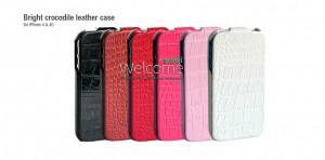 Чехол HOCO HI-L010 Bright Crocodile pattern leather case for iPhone 4 (разные цвета)