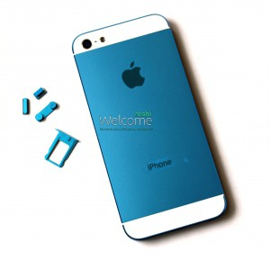 Iphone5 back cover blue orig