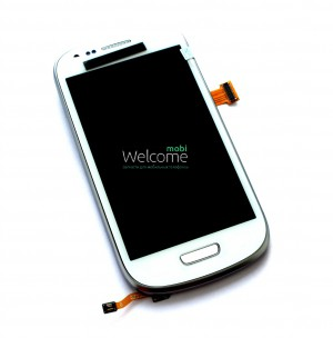 Дисплей Samsung I8190 white with touchscreen with frame orig