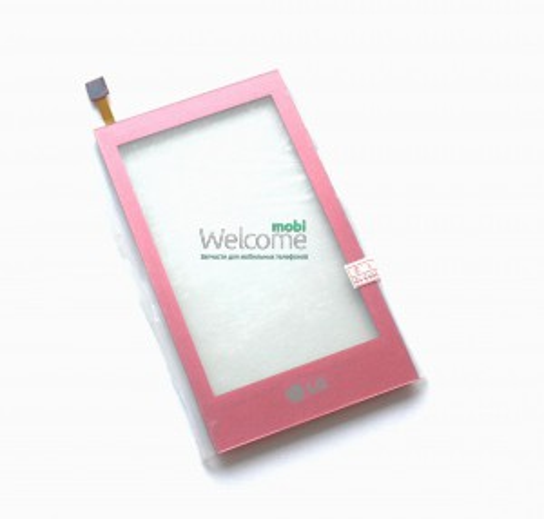Сенсор LG GT505,GT400 pink