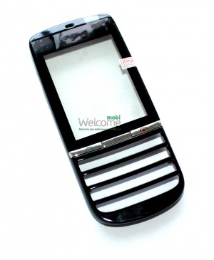 Сенсор Nokia 300 Asha black with big+small frame orig