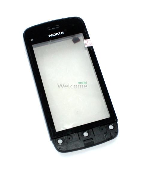 Сенсор Nokia C5-03,C5-06 black with frame orig