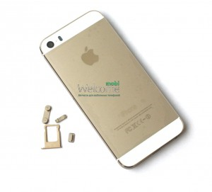 iPhone5S back cover gold high copy