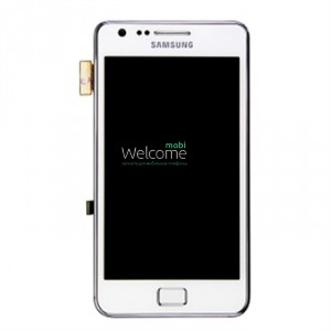 Дисплей Samsung I9105 Galaxy S2 Plus white with touchscreen with frame orig